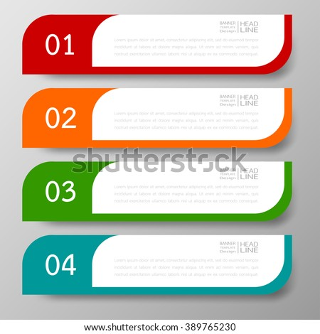 Banners template design Illustration vector business and text box infographics for presentation layout. - stock vector