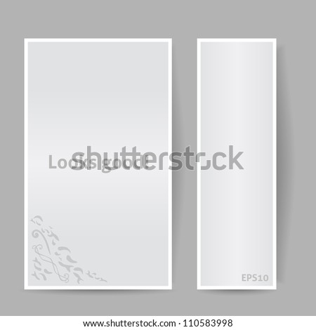 Banners with Shadow. Looks Good. Vector Illustration. Gray Color - stock vector