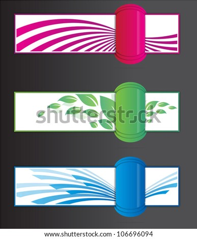 banners with striking elements - stock vector
