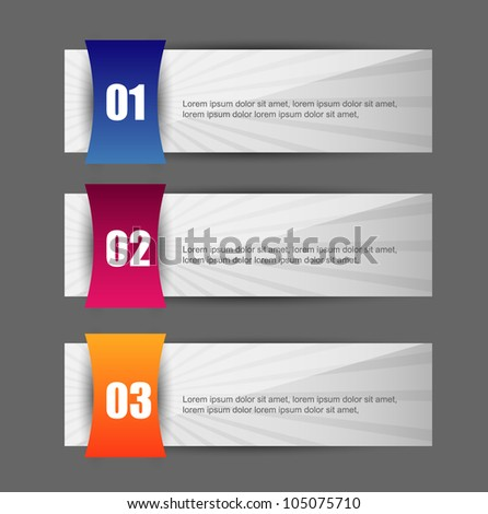 banners with various choice option - stock vector