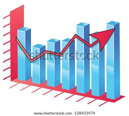 Bar Chart - stock vector