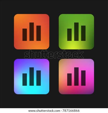 Bar Chart Four Color Gradient App Stock Vector 787166866 Shutterstock