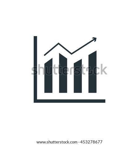 Bar chart icon, Vector