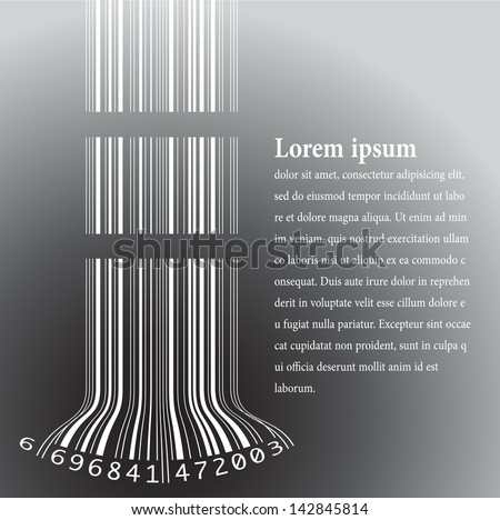 bar code - stock vector