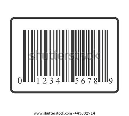 Bar code icon. Bar code shopping icon vector - stock vector