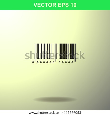Bar code icon. Illustration for business.