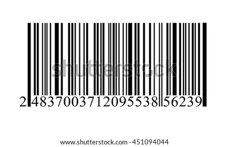 Bar code icon isolated on white background. Vector art. - stock vector