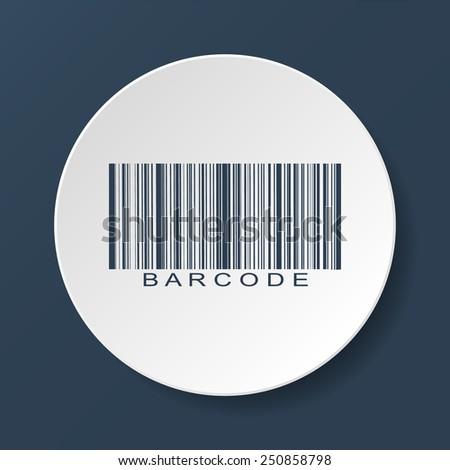Bar-code icon, vector illustration. Flat vector illustrator Eps - stock vector
