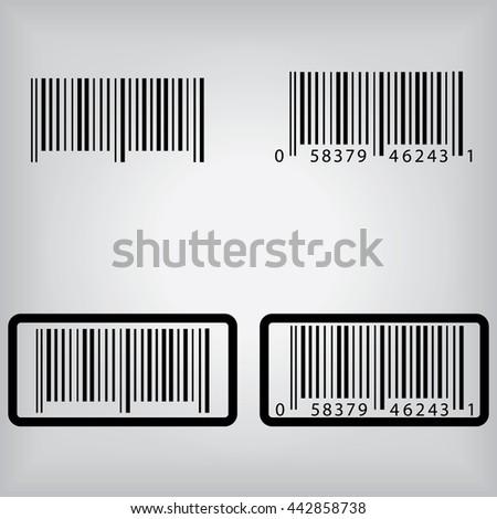 Bar Code Icons - stock vector