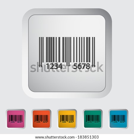 Bar code. Single color flat icon. Vector illustration.