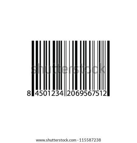 bar code vector illustration - stock vector