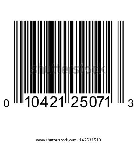 Bar code. Vector illustration. - stock vector
