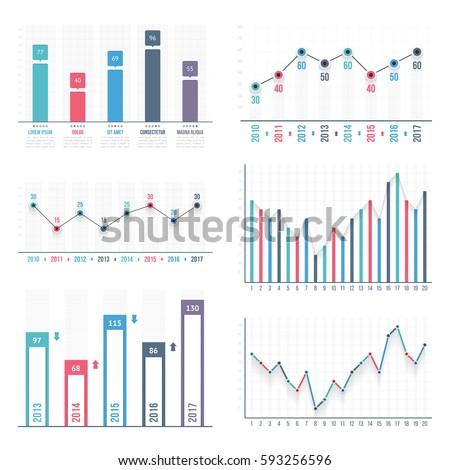 Bar Graph Line Graph Templates Business Stock Photo (Photo, Vector ...