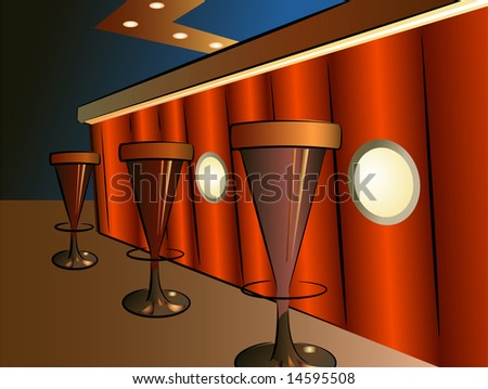 bar interior vector