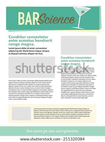 Bar science newsletter for use with bar business - stock vector