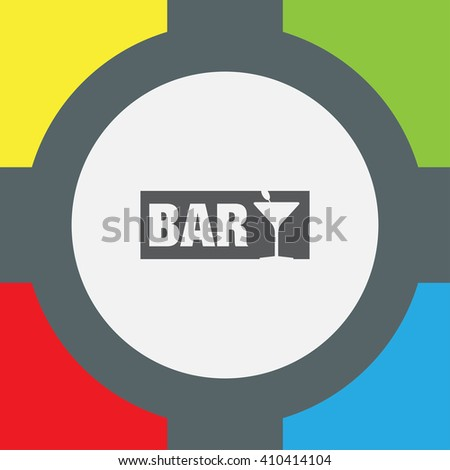 Bar Shop vector icon