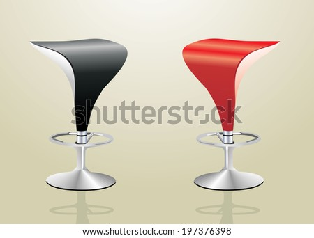 Bar stools - stock vector