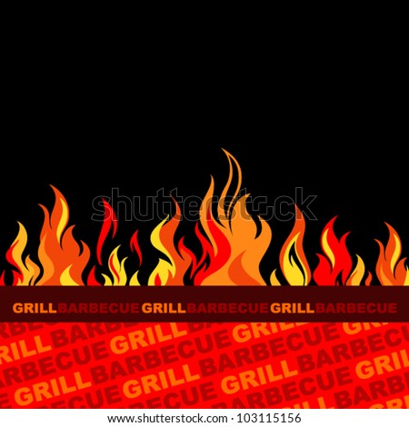 Barbecue and grill background.