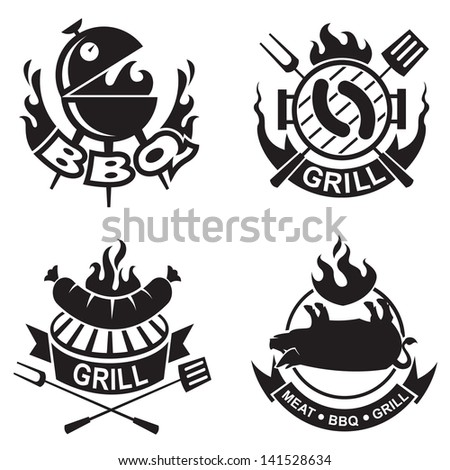 barbecue banners - stock vector