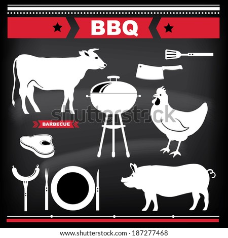 Barbecue design elements. Vector illustration.
