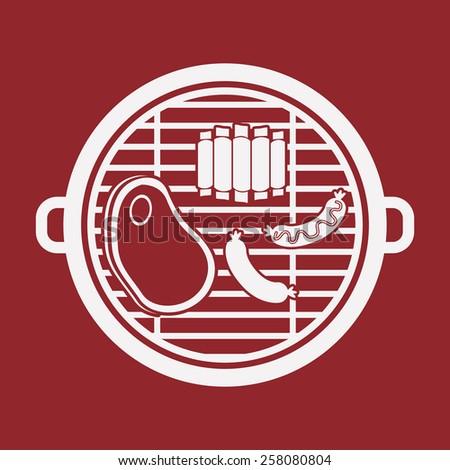 barbecue design, vector illustration - stock vector