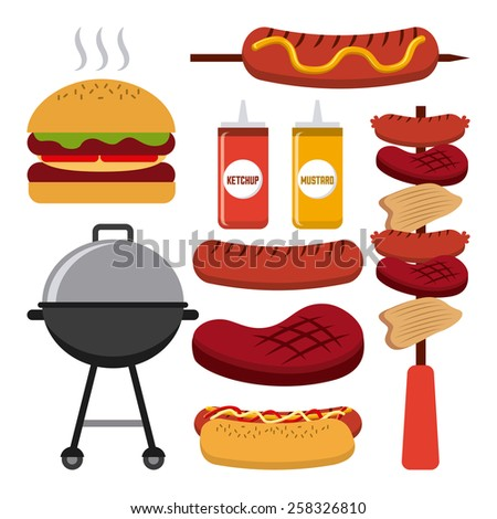 barbecue food  design, vector illustration eps10 graphic  - stock vector