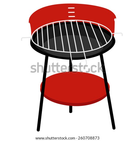 Barbecue grill vector isolated, barbeque family, barbeque party