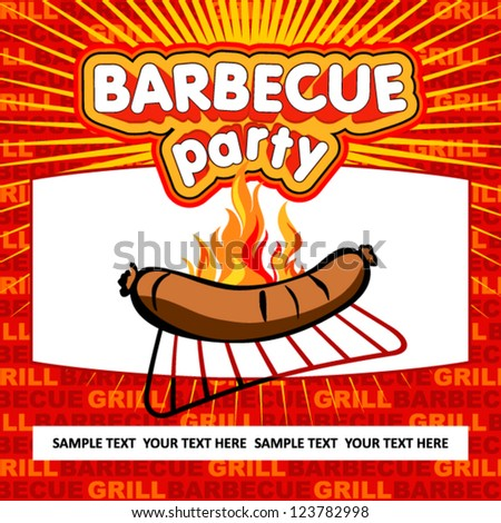 Barbecue party background. - stock vector