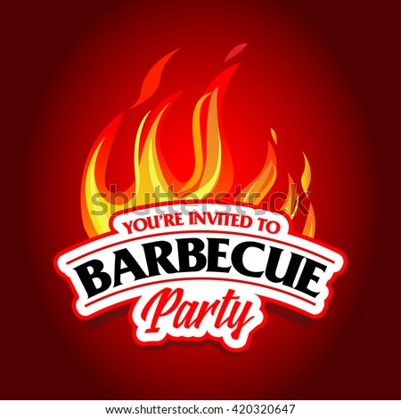 Barbecue party design, Barbecue invitation. Barbecue logo. BBQ template menu design. Barbecue Food flyer. Barbecue advertisement. Barbecue ad design.