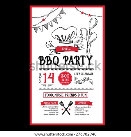 bbq invitation stock images royalty free images vectors shutterstock. Black Bedroom Furniture Sets. Home Design Ideas