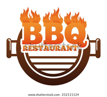 barbecue restaurant design, vector illustration eps10 graphic