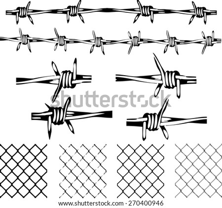 barbed wire elements isolated transparent repeating stock photo rh shutterstock com barbed wire vector circle barbed wire vector art