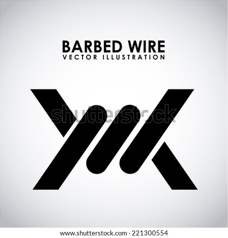 barbed wire graphic design , vector illustration - stock vector
