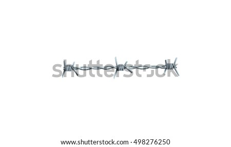 Barbed Wire - illustration of barbed wire, includes gradients, gradient meshes and transparencies