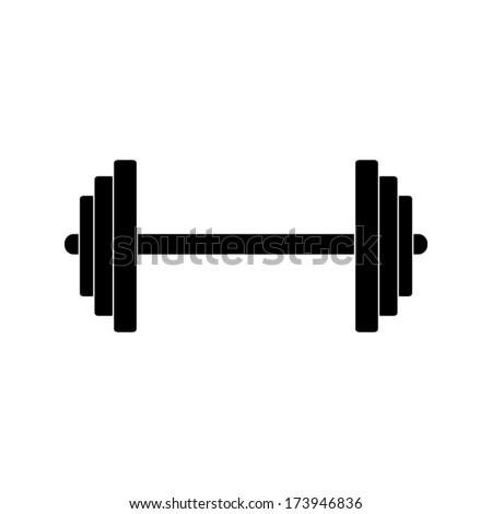 Barbell Icon Stock Vector 173946836 - Shutterstock