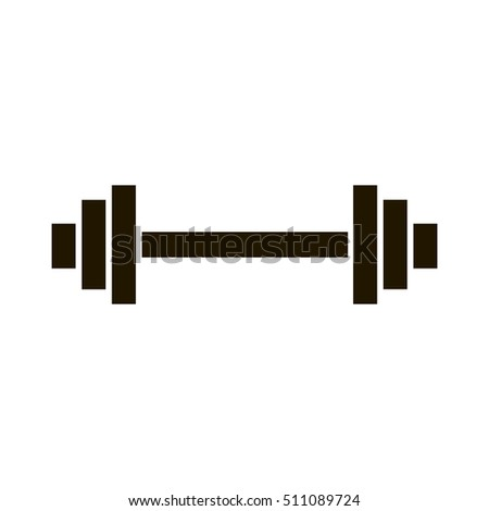 Dumbbell Weights Symbol Stock Vector 111881390 - Shutterstock