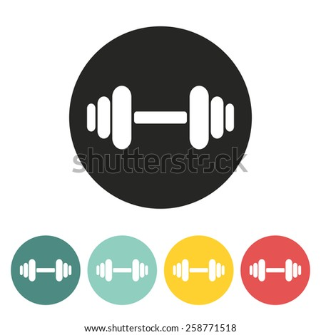 Barbell icon.Vector illustration. - stock vector