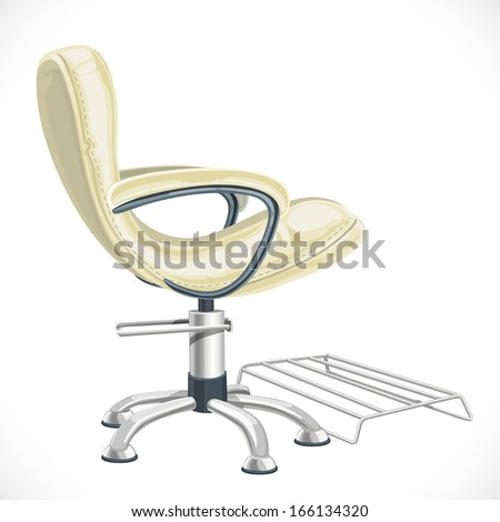Barber chair isolated on white background - stock vector