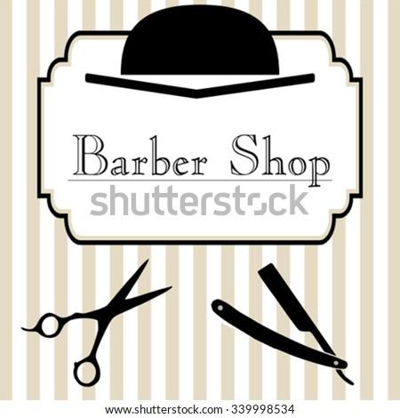 Barber shop logo design - stock vector
