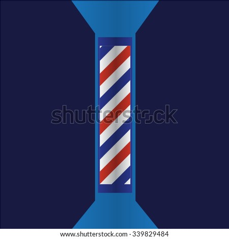 Barber shop pole isolated vector