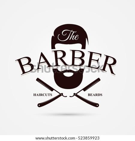 Barber shop symbol modern design vector stock vector for Simbolo barbiere