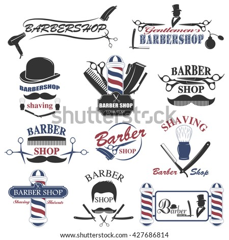 Barbershop tool collection set of barbershop instruments