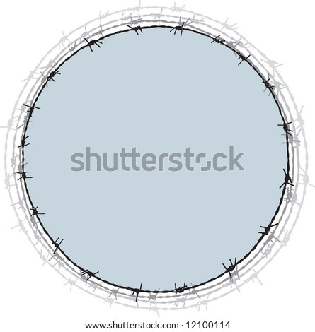 Barbwire frame 2 - stock vector