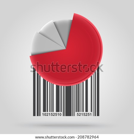 Barcode background with graph theme - vector element for design  - stock vector