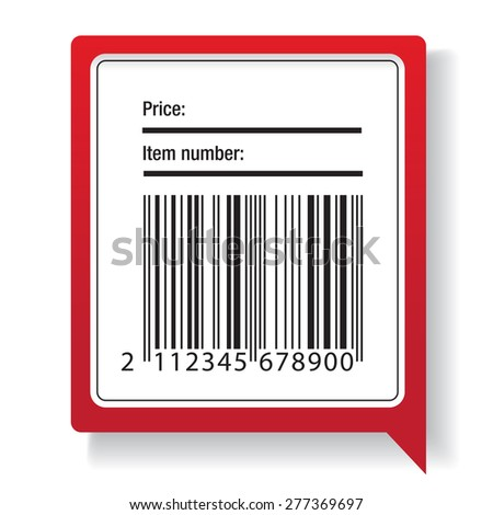 Barcode label shipping vector