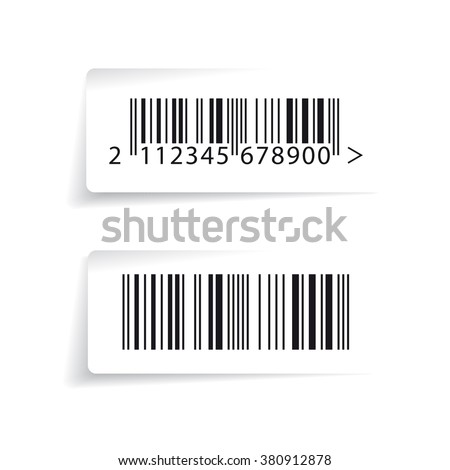 Barcode label vector - stock vector