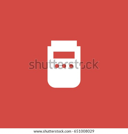 Barcode Reader Icon Sign Design Red Background