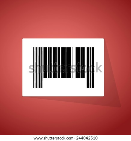 barcode ups code illustration design over a red background - stock vector