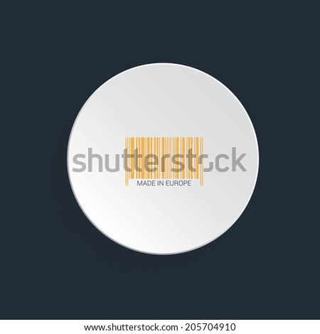 Barcode vector illustration in round shape on white background. Concept of buying, shopping commerce. Sign that can be read with scanner, reader in malls. - stock vector