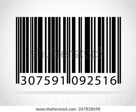 barcode vector illustration isolated on white background - stock vector